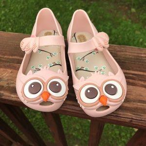 Mini Melissa Shoes - Mini Melissa child shoes- little owls- Sz 8